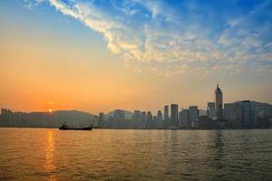 de skyline van de stad van hong kong
