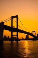 Tokyo Bay bij Rainbow Bridge foto