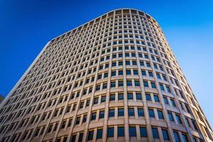 omhoog kijkend naar het brandywine-gebouw in het centrum van wilmington, de foto
