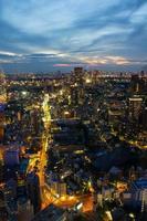 nacht uitzicht op tokyo