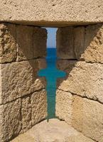 vestingwerken en kantelen van de middeleeuwse stad Rhodos