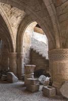 kasteel in het oude Griekenland van Rhodos foto