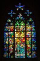 glas in lood raam foto
