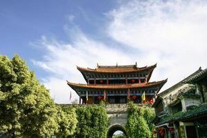 dali stad ingang, yunnan, china