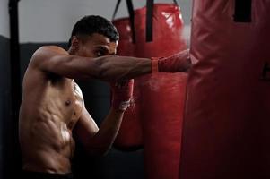 vecht training foto