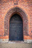 ols poort van basiliek in poznan, polen foto