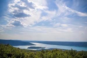 Gorges du Verdon en st. Croix Lake, Provence foto