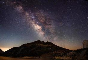de melkweg en het observatorium