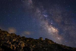 de melkweg en het observatorium foto