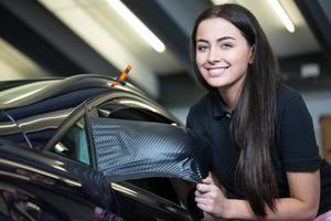 car wrapping professionele wraps zijspiegel met vinylfolie