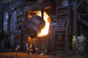 stalen fabriek foto