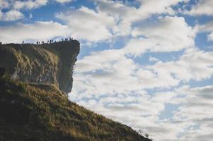 berg op de lucht foto