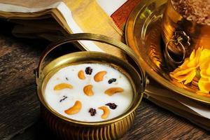 palpayasam een zoet gerecht uit Zuid-India foto