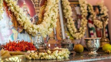 privé Zuid-Indiase gebedsruimte alter foto