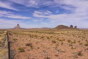 Monument Valley vanaf Scenic Byway 163 (Arizona, Verenigde Staten) foto