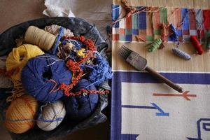 Indiase textiel foto