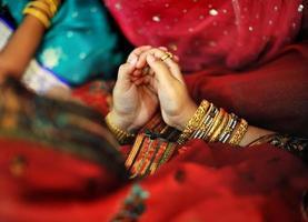 Indiase moslim gebed foto