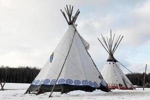 native indian tee-pee foto