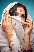 prachtige Indiase brunette portret