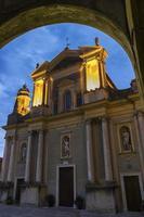 Basilica di San Michele Arcangelo in Menton, Frankrijk foto