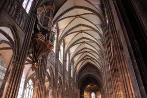 schip van de kathedraal van Straatsburg foto