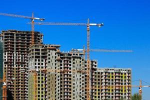 bouw van appartementengebouwen foto