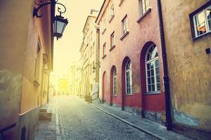 architectuur in de oude stad van Warschau, Polen