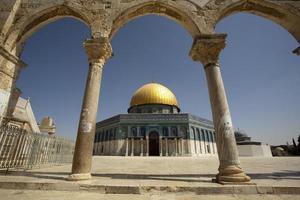 koepel van de rots, Jeruzalem, Israël foto