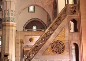 in een moskee-altaar foto