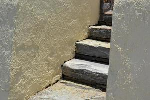 stenen trap. foto