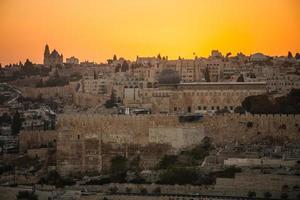oude stad van Jeruzalem foto