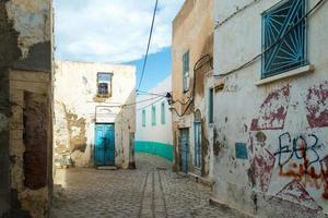 oude verlaten straat foto