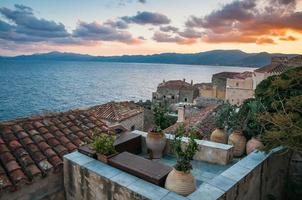 stadsgezicht op Monemvasia, Peloponnesos, Griekenland foto