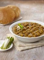 chana masala met puri, Indiaas eten, india foto