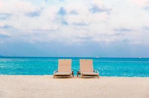 achtergrond voor een perfecte strandvakantie foto