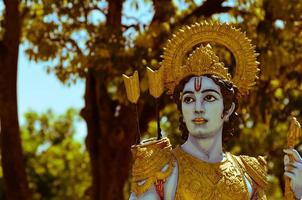 heilige Indiase god shri ram standbeeld foto