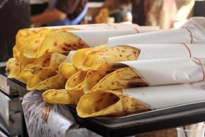 Indiaas plat brood foto