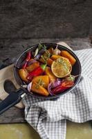 vegetarische pompoencurry foto
