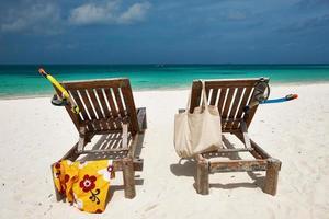 prachtig strand bij maldiven foto