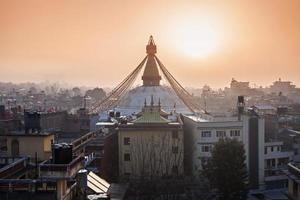 boudhanath stupa, kathmandu foto