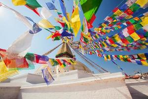 Bouddhanath-stoepa in de Kathmandu-vallei, Nepal foto