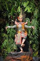 khon show in een drama ramayana foto