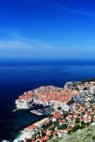 luchtfoto van dubrovnik, Kroatië foto