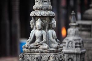 Boeddhabeeld in de stad Kathmandu, Nepal foto