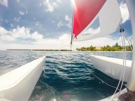 zeilen in de Maldiven