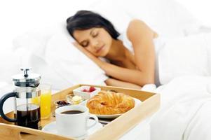 ontbijt op bed foto