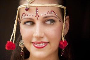 mooie bruid in India foto