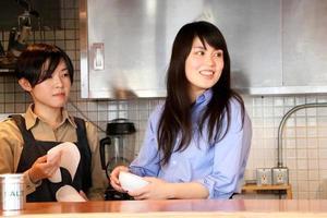 café werknemer foto
