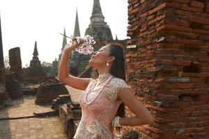 ayutthaya gebed foto
