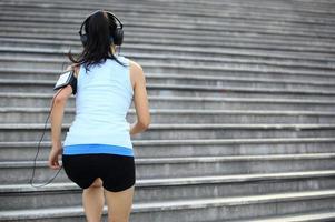 atleet uitgevoerd op trappen. foto